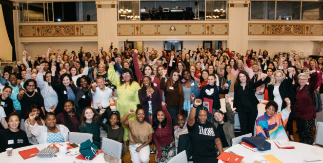 Group photo of attendees at Alliance for Girls' 5th Conference: Together We Rise
