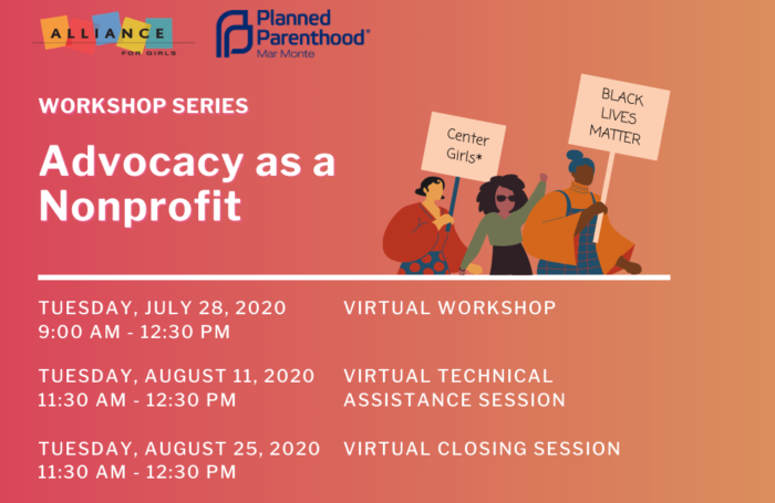Advocacy as a Nonprofit Workshop Series Banner
