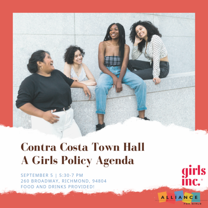 Contra Costa Town Hall event banner with address details