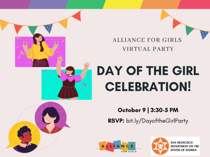 Day of the Girl Celebration banner, October 9, 3:30-5pm