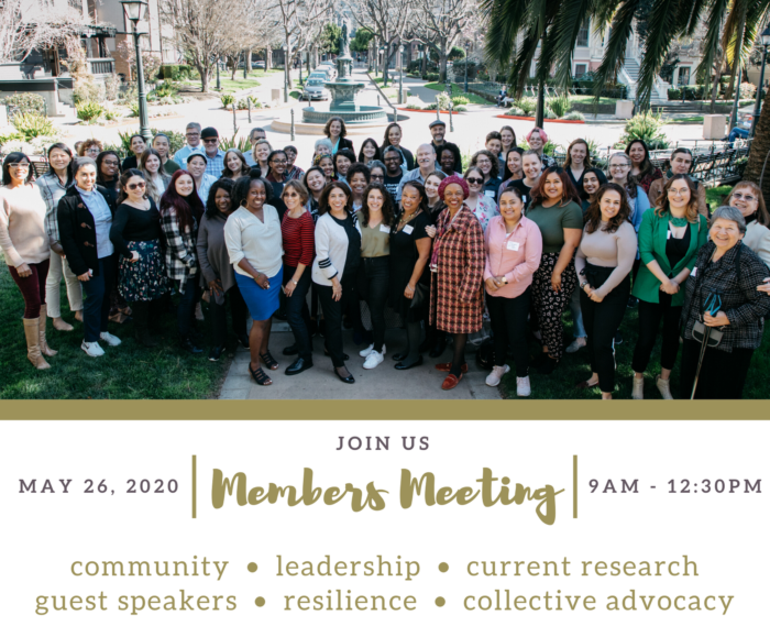 Virtual Members Meeting Banner with a group photo from our February 2020 Members Meeting