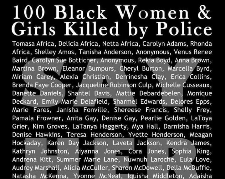 Say Her Name: 100 Black Women & Girls Killed by Police