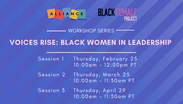 Workshop Series Banner for Voices Rise: Black Women in Leadership