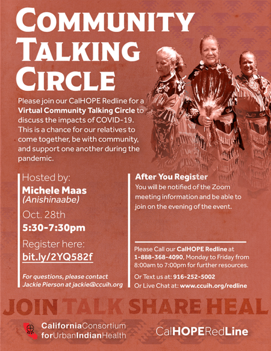 Community Talking Circle Event poster
