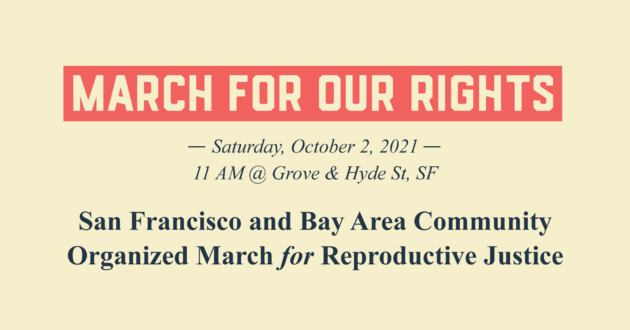 March for Our Rights Event Banner