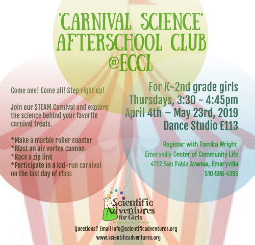 Carnival Science Afterschool Club | Alliance For Girls